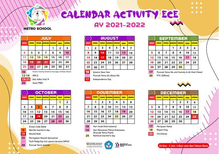 Calendar Activity ECE 2021-2022